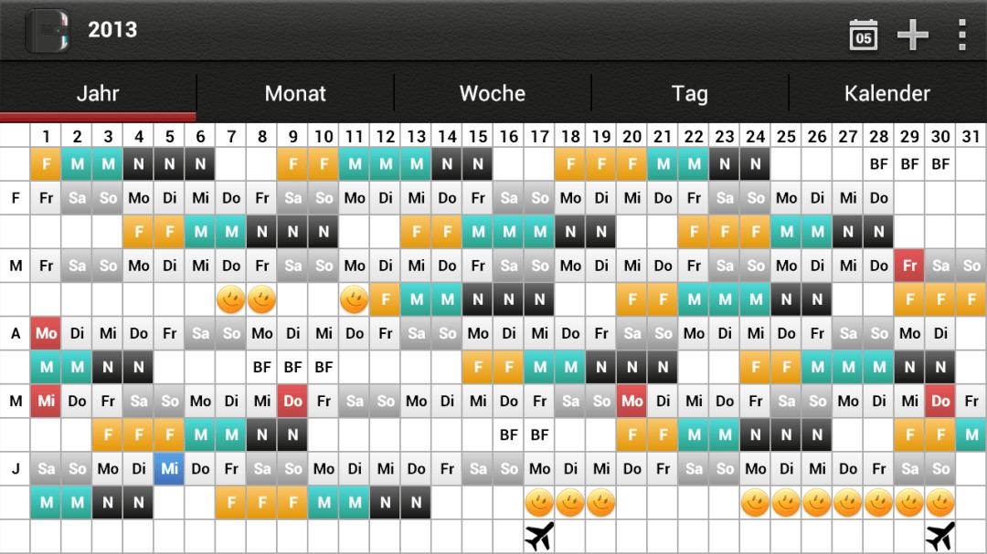 Urlaubsplan Screenshot
