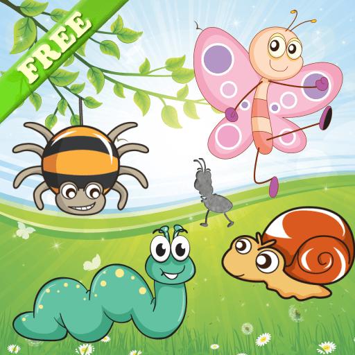 Puzzles de insectos para niños pequeños y niñas! Juegos de rompecabezas educativos: aprender a conocer a los insectos ! GRATIS