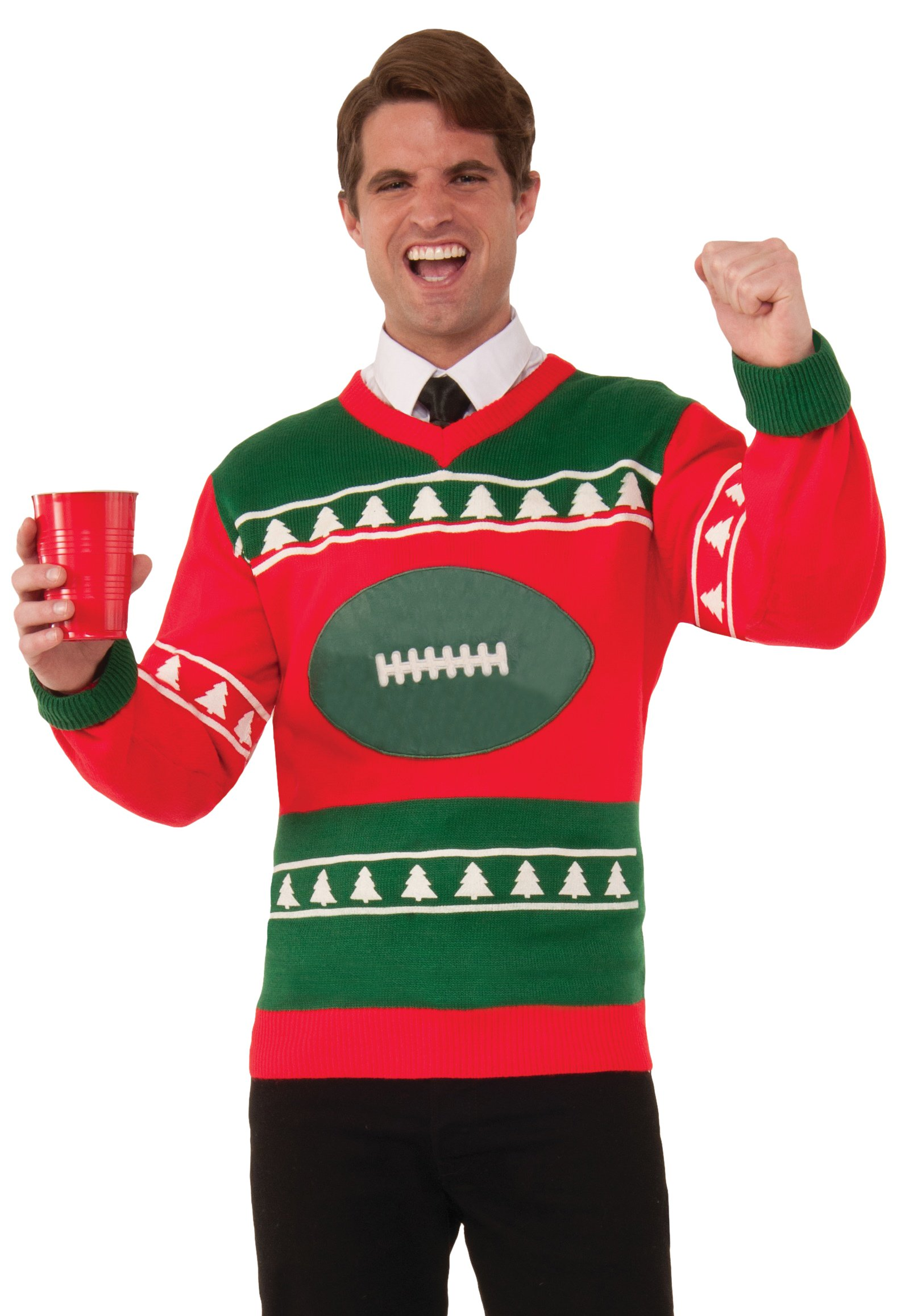 915e8499793 Forum Men s Plus-Size Extra Large Football Ugly Christmas Sweater ...