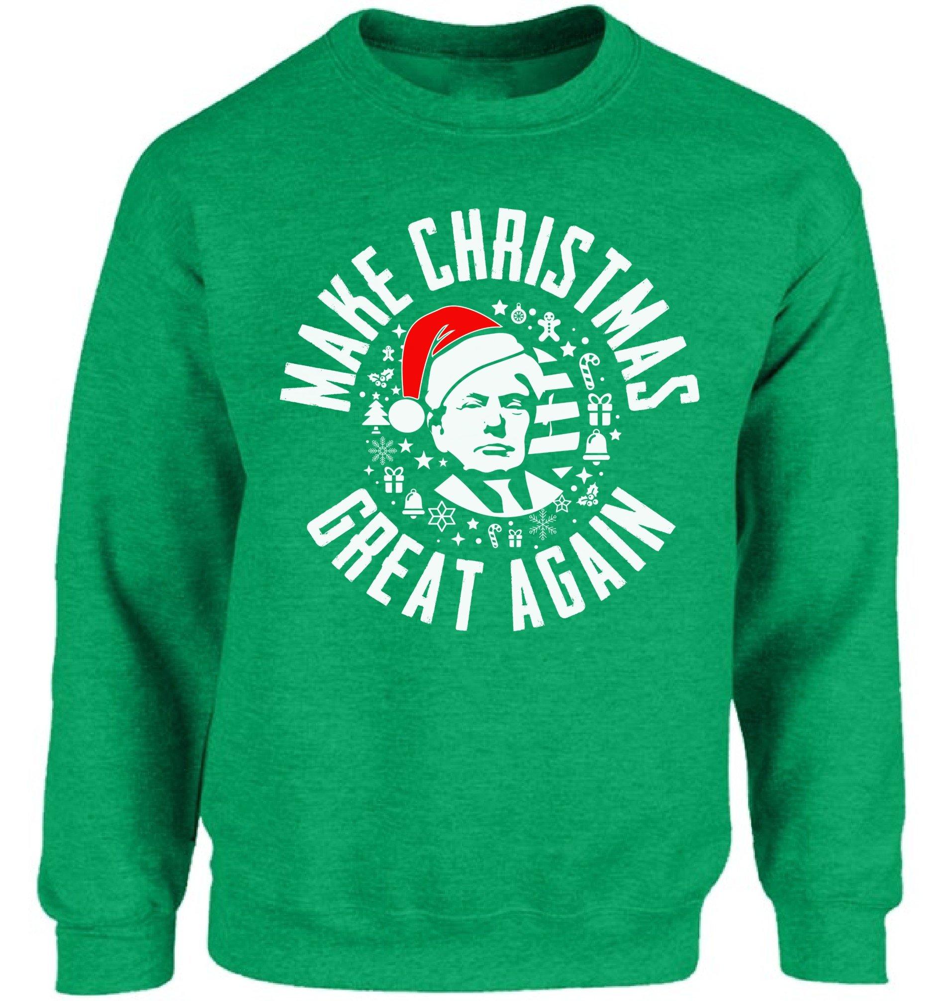 Donald Trump Ugly Christmas Sweater.Vizor Make Christmas Great Again Sweatshirt Donald Trump