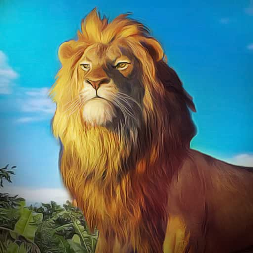Jungle King Lion Attack Simulator: Animal Survival Game 3D