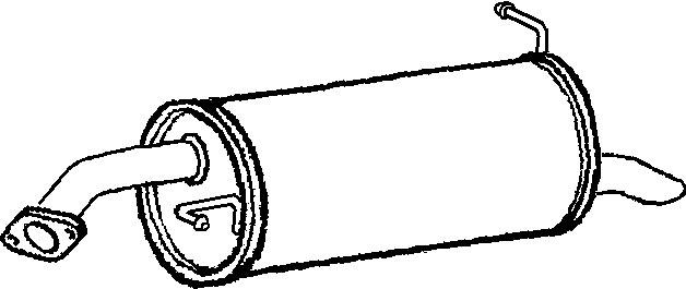 Klarius (HY98H) Exhaust Rear Back Box Hyundai Getz (TB