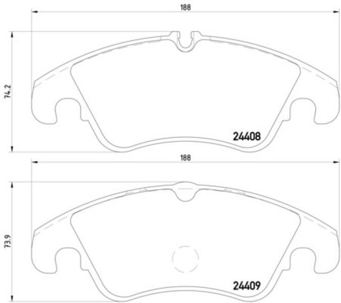 Audi A4 Avant Cabrio A5 Q5 8R Bosch Front Brake Pads Set