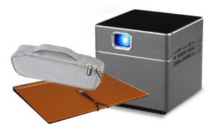 miniプロジェクター Pico Cube ピコキューブ 収納ポーチ・バインダースクリーン付フルセット ワイヤレス wifi 接続 三脚付 リモコン付 S6 PSE 技適認証済