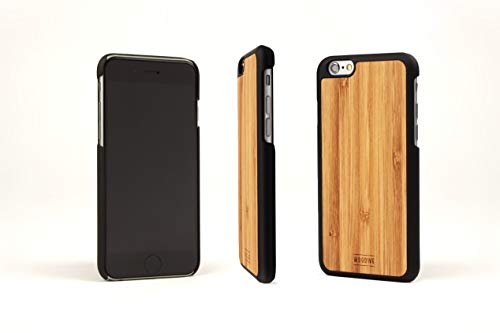 WoodWe Natural Wood Protective Handmade Case/Cover | For Iphone 6 / 6s | Authentic & Stylish | Ethically Sourced | BAMBOO