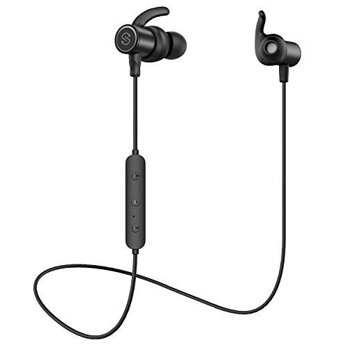 【防水進化版 IPX6対応】SoundPEATS(サウンドピーツ) Q30 Plus Bluetooth イヤホン 10MMドライバー搭載 高音質 [メーカー1年保証] 低音重視 8時間連続再生 apt-Xコーデック採用 人間工学設計 マグネット搭載 CVC6.0ノイズキャンセリング マイク付き ハンズフリー通話 ブルートゥース イヤホン IP6X防塵 ワイヤレス イヤホン Bluetooth ヘッドホン (ブラック)