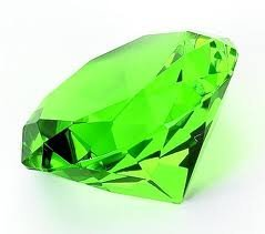 80mm Original Crystal Diamond Jewel Paperweight (Green) by ezshoponline