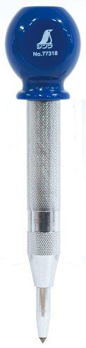 シンワ測定 オートポンチ 転がり防止グリップ付き L 77318