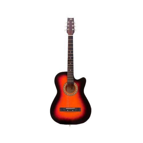 MU006 アコースティックギター(カッタウェイ/オレンジ) 初心者モデル アコギ