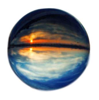クリスタル ガラス クリア ボール 水晶玉 カメラ レンズ 【特別プレゼント】麻の巾着つき