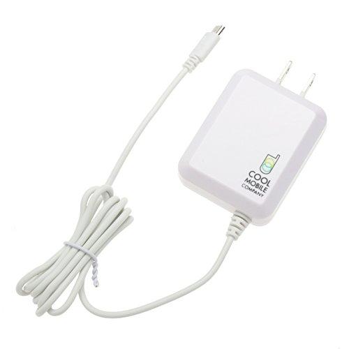 クールモバイルカンパニー スマホ用超速AC充電器 マイクロUSB 1.8A出力 白