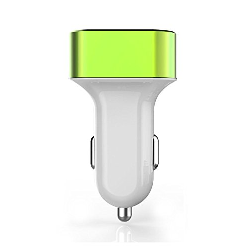 iPhone6 3USBポート同時充電 カーチャージャー 急速充電器 グリーン 3USB Port Car Charger 車載充電アダプタ 2.1A + 2.0A + 1.0A 出力 iPhone5S/iPad/Xepria/Galaxy/スマホ/タブレット/カーナビ USB3連ソケットマルチカーチャージャー カー用品 【クリスタル神戸】