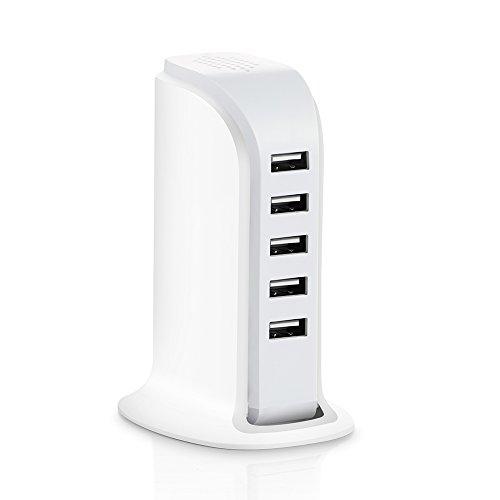 USB充電器 30W 5ポート AC充電器 アダプター 急速充電 チャージャーiPhone iPad スマホ タブレット モバイルバッテリー 等対応ホワイト