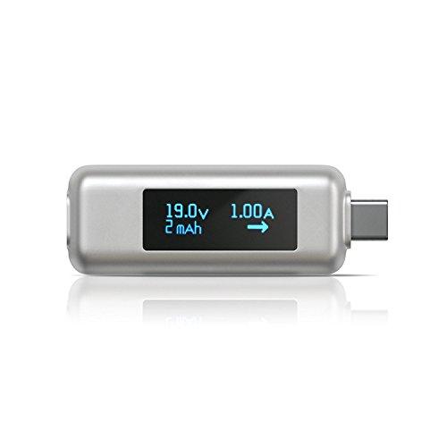 Satechi USB-C パワーメーターテスター 電圧・電流チェッカー (2018 MacBook Air, 2018 iPad Pro, 2016/2017/2018 MacBook Pro/MacBook, iMac Pro, 2017 iMac, Microsoft Surface Goなど対応)