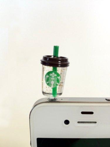 スターバックス Starbucks 携帯 iphone他 イヤホンジャックカバー新ロゴ スタバ 【並行輸入品】