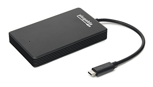 Plugable 480GB Thunderbolt 3 External NVMe SSD Compatible with MacBook Pro 2018 / 2017 / Late 2016 a...