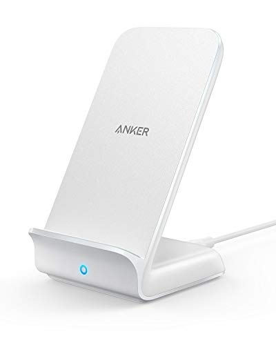 Anker PowerWave 7.5 Stand (5W / 7.5W / 10W Qi ワイヤレス急速充電器) iPhone XS/XS Max/XR/X / 8 / 8 Plus、Galaxy S10 / S10+ / S9 / S9+、その他Qi対応機種 各種対応(ホワイト)