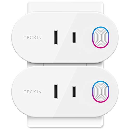 Wi-Fi スマートプラグ TECKIN スマートコンセント インテリジェント ソケット エネルギー モニタリング Ama...