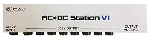 CAJ カスタムオーディオジャパン エフェクター用パワーサプライ AC/DC Station VI (アダプター、DCケーブル付き) 小さくて安いパワーサプライ特集! エフェクターボードに邪魔にならないコンパクトなオススメ電源!【ギター・ベース】
