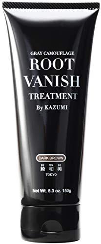 Root Vanish 白髪染め ヘアカラートリートメント ダークブラウン (髪と頭皮に優しい白髪染め・22種類の植物エキス配合)