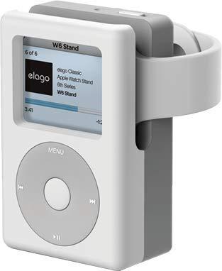 【elago】 Apple Watch 充電 スタンド シリコン 充電ドック アクセサリー ノスタルジック レトロデザイン [ AppleWatch Series5 Series4 40mm / 44mm & Series3 Series2 series1 38mm / 42mm アップルウォッチ 各種対応 対応 ] W6 STAND ホワイト