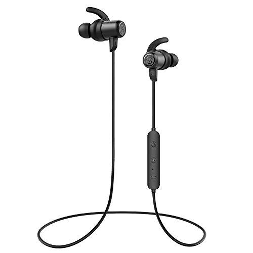 SoundPEATS(サウンドピーツ) Bluetooth イヤホン AAC & APT-Xコーデック対応 高音質・低遅延 10MMドライバー採用 8時間連続再生 IPX6防水 マグネット内蔵 ハンズフリー通話 CVC6.0 ノイズキャンセリング搭載 Bluetooth 4.1 スポーツ イヤホン ブルートゥース イヤホン 両耳 ワイヤレス ヘッドホン [メーカー1年保証] ブラック