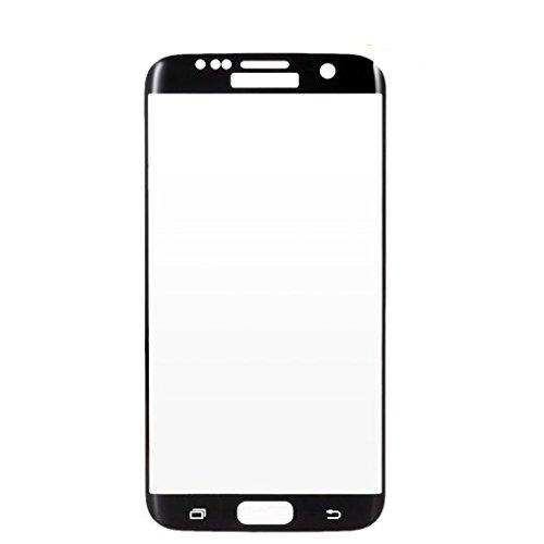 Samsung Galaxy S7 Edge 強化ガラスフィルム 全面保護 液晶保護フィルム ガラスフィルム 日本製素材 3Dタッチ対応 薄さ0.33mm 硬度9H S7 Edge ブラック