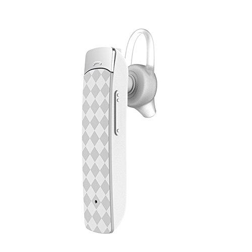 X-LIVE Bluetoothイヤホン4.1 ブルートゥース ヘッドセット 片耳モノラル 小型 軽量 マイク付 ハンズフリー 通話 高音質 運転中 車内 電話 ワイヤレス イヤホン(ホワイト)
