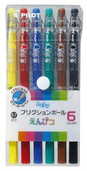 フリクションボールえんぴつ 6色セット LFP78FN-6C