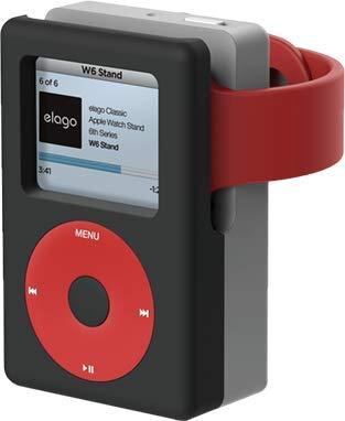 【elago】 Apple Watch 充電 スタンド シリコン 充電ドック アクセサリー ノスタルジック レトロデザイン W6 STAND [ AppleWatch Series4 40mm /44mm & Series3 Series2 series1 38mm / 42mm アップルウォッチ 各種対応 ] ブラック