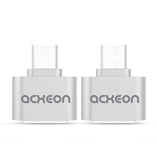 *日本倉庫出荷*ミニUSB OTG転換USBアダプターマイクロUSBアダプタ USB - Aメス/micro USB - Bオス 変換 OTG アダプタ 銀色2個/1セット