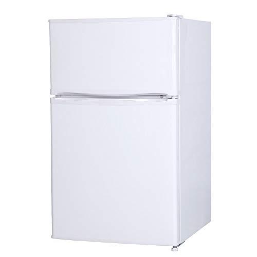 maxzen 冷蔵庫 90L 一人暮らし 2ドア マクスゼン 左右付け替えドア コンパクト 小型 パールホワイト JR090ML01WH