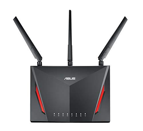 ASUS ゲーミングWi-Fi無線ルーターRT-AC86U 11ac 2,167+750Mbps 接続18台/3階建・4LDK 【 PS4™/Wii U™/iPho...