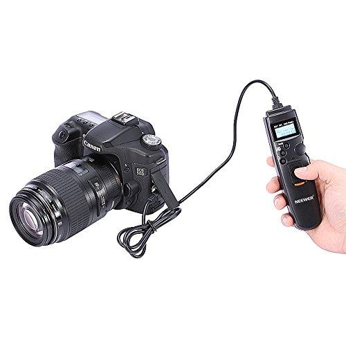 NEEWER LCD タイマーリモートコントローラー リモートシャッターレリーズ リモートコード Canon EOS 20D,30D,40D,50D,5D,1D Mark II,1D Mark III,1Ds Mark II ,1Ds Mark III, 1D Mark IV, 5D Mark II,7D 対応
