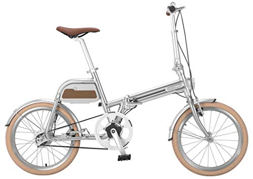 チノーバ(Tsinova) ALIAS スマート 電動アシスト自転車 20インチ 折りたたみ自転車 【型式認定試験合格済 ベルトドライブ 5.8Ahリチウムイオンバッテリー搭載 Bluetooth スマートフォン連動】 AR-TN20TSF シルバー