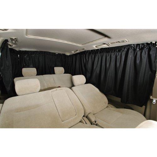 ボンフォーム 車用 シャットカーテン ブラック ミニバンリヤ5枚セット 車中泊に最適 普通車用 7901-04BK