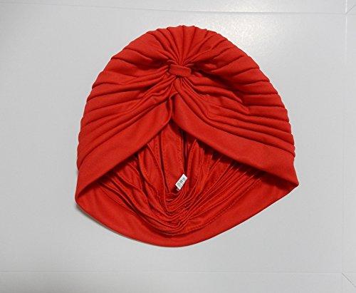 コスプレ 仮装 インド アラブ 帽 ビンラディン キャップ ターバン(赤)