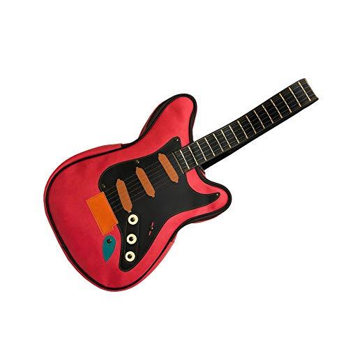 fieldlabo おもしろ エレキギター型 ショルダーバッグ スリングバッグ (レッド) 【ダサかわいい!】ギター型 ショルダーバッグが良過ぎてヤバイ!ギター好きにオススメのギターバッグです!