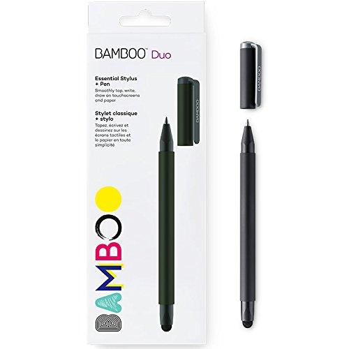ワコム スタイラスタッチペン Bamboo Duo Stylus ブラック 2つのペン先ボールペン/スタイラスペン CS191K