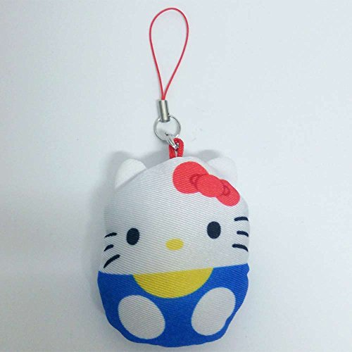 サンリオキャラ☆にぎにぎマスコット携帯ストラップハローキティ/青