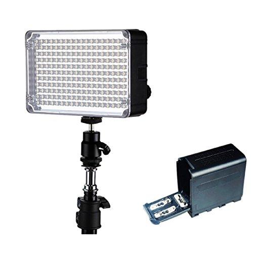 Aputure Amaran AL-H198C 照明・撮影ライト 198球 LEDビデオライト LED照明 198球 LEDを搭載 カメラ&ビデオカメラ用 CRI95+ 3200-5500K 温度調整可能 + 1個 Fomito 6ピース 単三電池 ケースパック 電源交換品