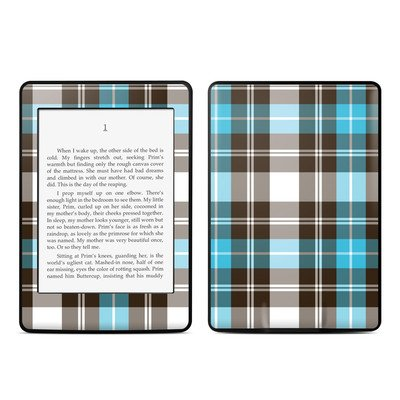 Amazon Kindle Paperwhite スキンシール【Turquoise Plaid】