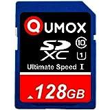 128GB QUMOX SD XC 128 GB SDXC Class 10 UHS-I デジタルメモリカード 高速 Write Speed 40MB/S read speed upto 80MB/S 128 GB SDXC...