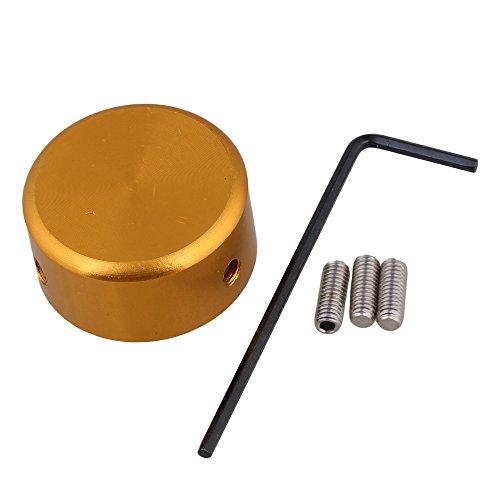 Yibuy アルミニウム合金 ギターエフェクターフットキャップ (ゴールデン) エフェクターのツマミを固定するアイテム「Hawkeye Knob / Beatwalk」が超オススメ!ツマミロック!