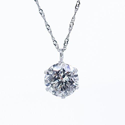 【KASHIMA】鑑定書付 プラチナ900 1.0ct ダイヤモンド ペンダント ネックレス