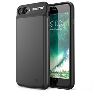 バッテリー内蔵ケース iPhone6/6s/7/8 4.7インチ用 Loonfree バッテリーケース 急速充電 5600mAh 大容量 充電カバー アイフォン6/6s/7/8対応 一体型 (ブラック) 車載ホルダー対応