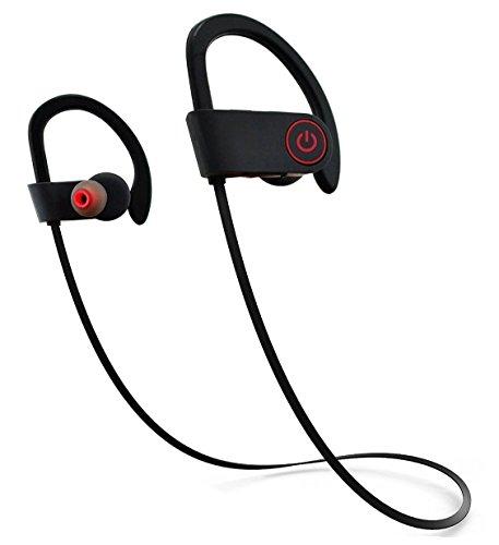 Bluetoothスポーツイヤホン ワイヤレスイヤホン 防汗 防滴 HD高音質 耳かけ式ランニング中でも耳から外れにくい 無線 ハンズフリー通話CVC6.0 ノイズキャンセリング搭載 軽量 小型 マイク内蔵 AUGYMER【18ヶ月保証付き!】