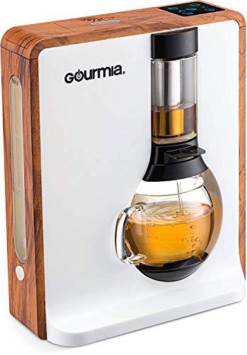 [Gourmia] [gourmia – gct8000 – Personal Tea &コーヒーメーカー – Loose Leaf Teas 1つボタン醸造システム ブラウン GTC8000W] (並行輸入品)