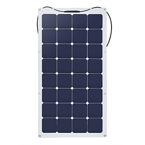 suaoki 100W ソーラーパネル 太陽光発電 単結晶 変換効率25% フレキシブル 超薄型 携帯便利 キャンピングカー 船舶 テント アウトドア 防災などに活躍
