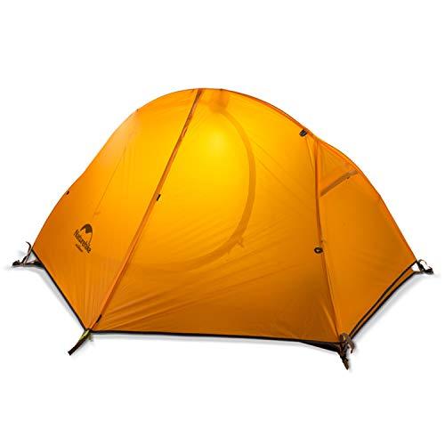 NatureHike1人用ワンタッチテントアウトドアキャンピングテント超軽量テント (オレンジ(NH18A095-D20DXQ))